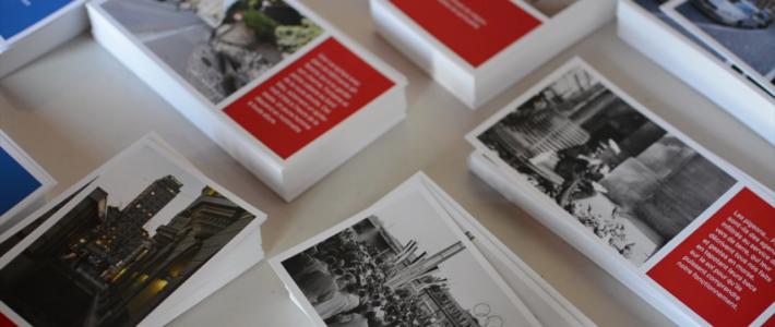 Cartes postales réalisées dans le cadre du projet «Place publique»