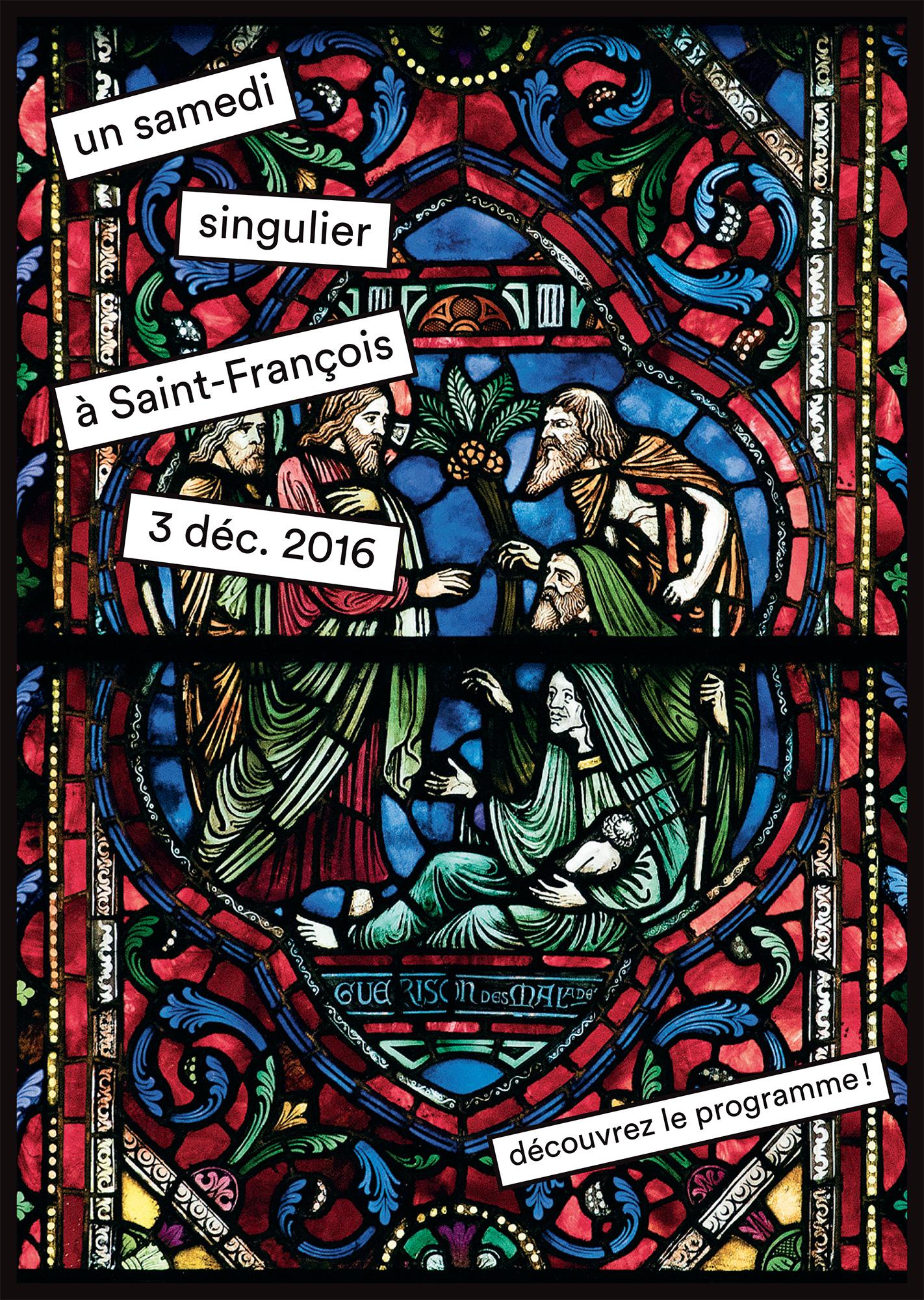 """Affiche pour """"un samedi singulier à St-François"""""""