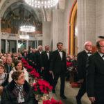 La Chorale du Brassus dans la nef de l'Église Saint-François de Lausanne, quelques minutes avant leur concert pour les 75 ans de Pro Infirmis Vaud, le vendredi 2 décembre 2016