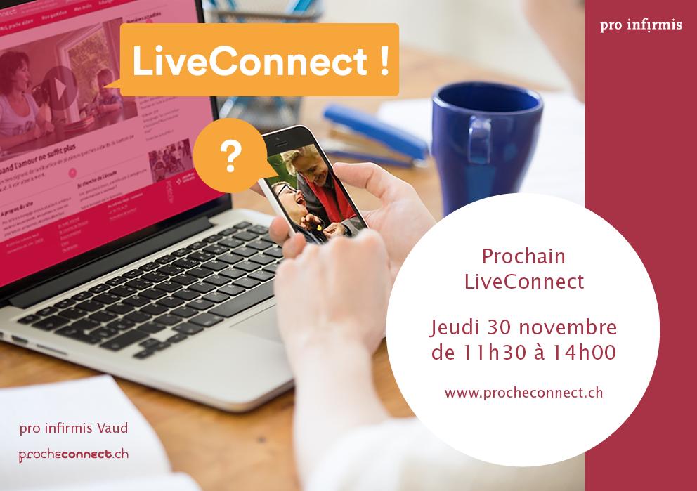 Visuel pour la campagne LiveConnect du 30 novembre 2017